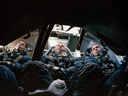 Apollo 8 astronauts in capsule